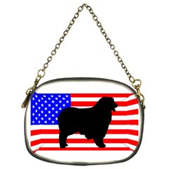 Australian Shepherd Silo Usa Flag Chain Purses (One Side)