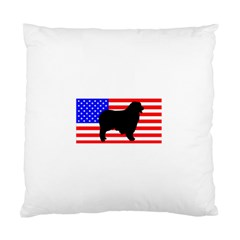 Australian Shepherd Silo Usa Flag Standard Cushion Case (One Side)