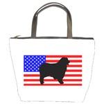 Australian Shepherd Silo Usa Flag Bucket Bags Front