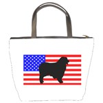Australian Shepherd Silo Usa Flag Bucket Bags Back