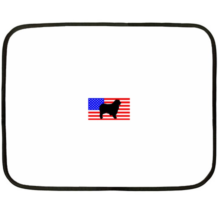 Australian Shepherd Silo Usa Flag Fleece Blanket (Mini)