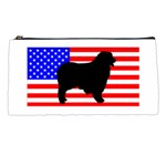 Australian Shepherd Silo Usa Flag Pencil Cases Front
