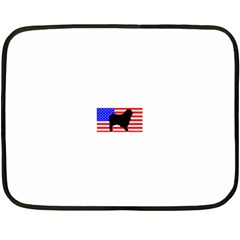 Australian Shepherd Silo Usa Flag Double Sided Fleece Blanket (Mini)