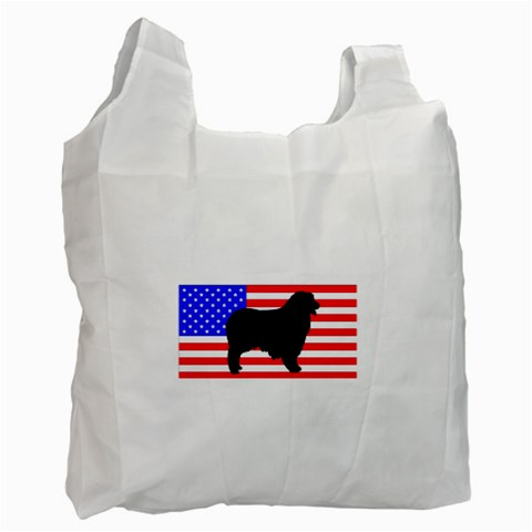 Australian Shepherd Silo Usa Flag Recycle Bag (One Side)