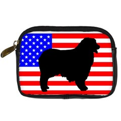 Australian Shepherd Silo Usa Flag Digital Camera Cases