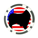 Australian Shepherd Silo Usa Flag Poker Chip Card Guards (10 pack)  Front