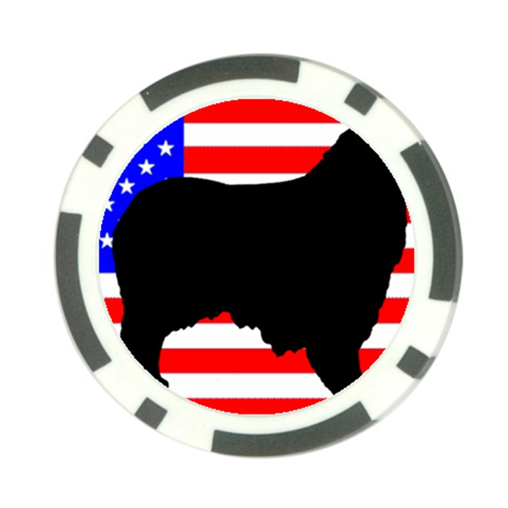 Australian Shepherd Silo Usa Flag Poker Chip Card Guards (10 pack)