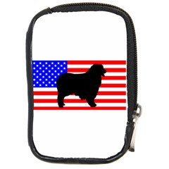 Australian Shepherd Silo Usa Flag Compact Camera Cases