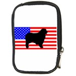 Australian Shepherd Silo Usa Flag Compact Camera Cases Front