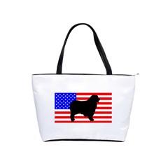 Australian Shepherd Silo Usa Flag Shoulder Handbags