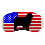 Australian Shepherd Silo Usa Flag Sleeping Masks Front