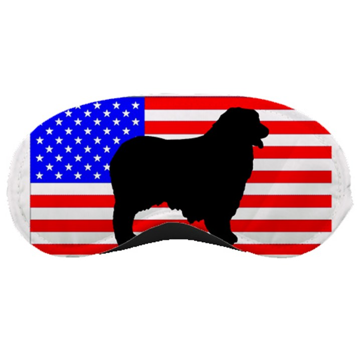 Australian Shepherd Silo Usa Flag Sleeping Masks