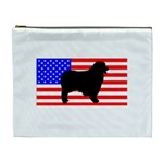 Australian Shepherd Silo Usa Flag Cosmetic Bag (XL) Front