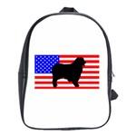Australian Shepherd Silo Usa Flag School Bags(Large)  Front