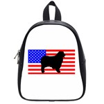 Australian Shepherd Silo Usa Flag School Bags (Small)  Front