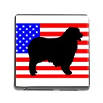Australian Shepherd Silo Usa Flag Memory Card Reader (Square) Front