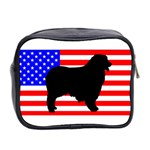 Australian Shepherd Silo Usa Flag Mini Toiletries Bag 2-Side Back