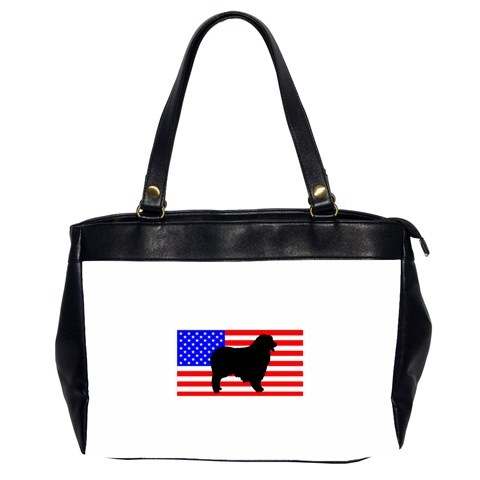 Australian Shepherd Silo Usa Flag Office Handbags (2 Sides)