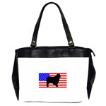 Australian Shepherd Silo Usa Flag Office Handbags (2 Sides)  Front