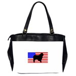 Australian Shepherd Silo Usa Flag Office Handbags (2 Sides)  Back