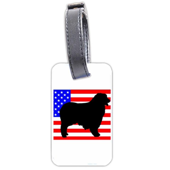 Australian Shepherd Silo Usa Flag Luggage Tags (Two Sides)