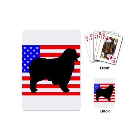 Australian Shepherd Silo Usa Flag Playing Cards (Mini)