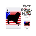 Australian Shepherd Silo Usa Flag Playing Cards 54 (Mini)  Front - Spade2
