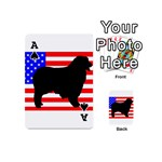 Australian Shepherd Silo Usa Flag Playing Cards 54 (Mini)  Front - SpadeA