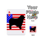 Australian Shepherd Silo Usa Flag Playing Cards 54 (Mini)  Front - HeartA