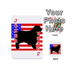 Australian Shepherd Silo Usa Flag Playing Cards 54 (Mini)  Front - Joker2