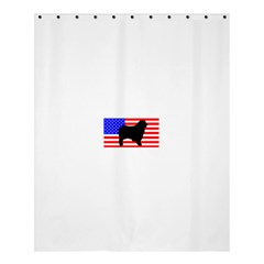 Australian Shepherd Silo Usa Flag Shower Curtain 60  x 72  (Medium)