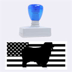 Australian Shepherd Silo Usa Flag Rubber Stamps (Large)