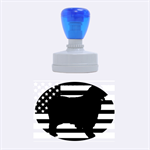 Australian Shepherd Silo Usa Flag Rubber Oval Stamps 1.88 x1.37  Stamp