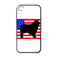 Australian Shepherd Silo Usa Flag Apple iPhone 4 Case (Black)