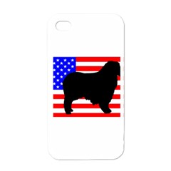 Australian Shepherd Silo Usa Flag Apple iPhone 4 Case (White)