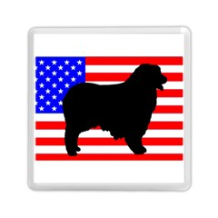 Australian Shepherd Silo Usa Flag Memory Card Reader (Square)