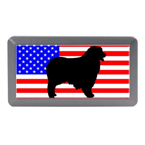 Australian Shepherd Silo Usa Flag Memory Card Reader (Mini)