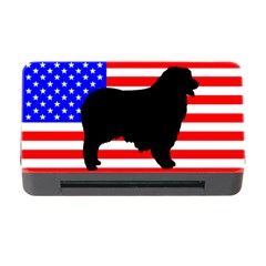 Australian Shepherd Silo Usa Flag Memory Card Reader With Cf