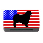 Australian Shepherd Silo Usa Flag Memory Card Reader with CF Front
