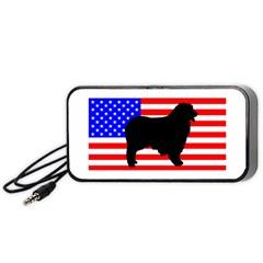 Australian Shepherd Silo Usa Flag Portable Speaker (black)