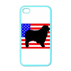Australian Shepherd Silo Usa Flag Apple iPhone 4 Case (Color)
