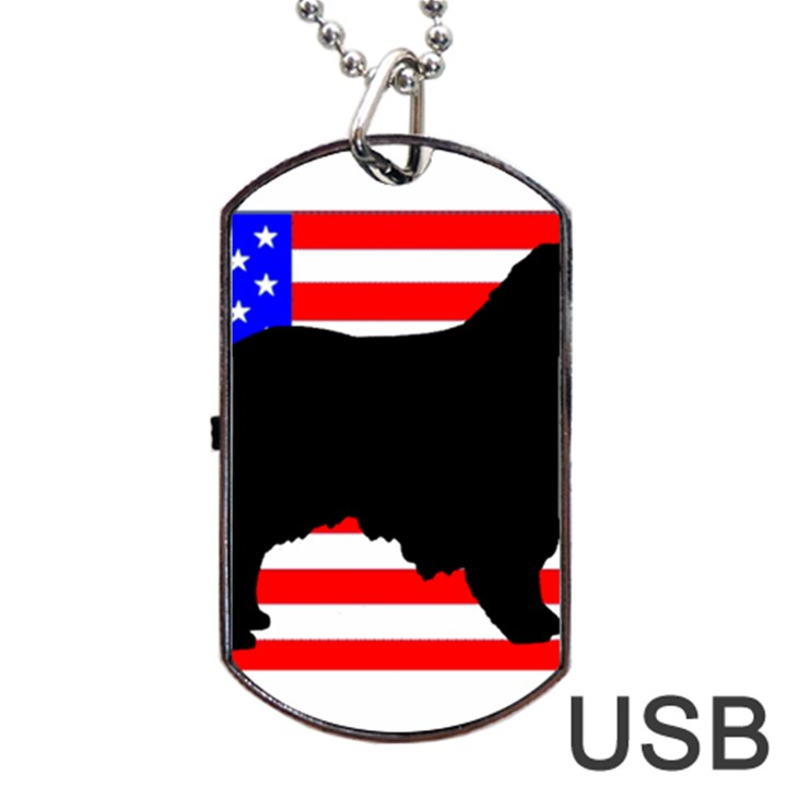 Australian Shepherd Silo Usa Flag Dog Tag USB Flash (Two Sides)