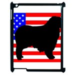 Australian Shepherd Silo Usa Flag Apple iPad 2 Case (Black) Front