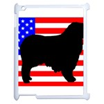 Australian Shepherd Silo Usa Flag Apple iPad 2 Case (White) Front
