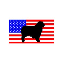 Australian Shepherd Silo Usa Flag Birthday Cake 3D Greeting Card (7x5)