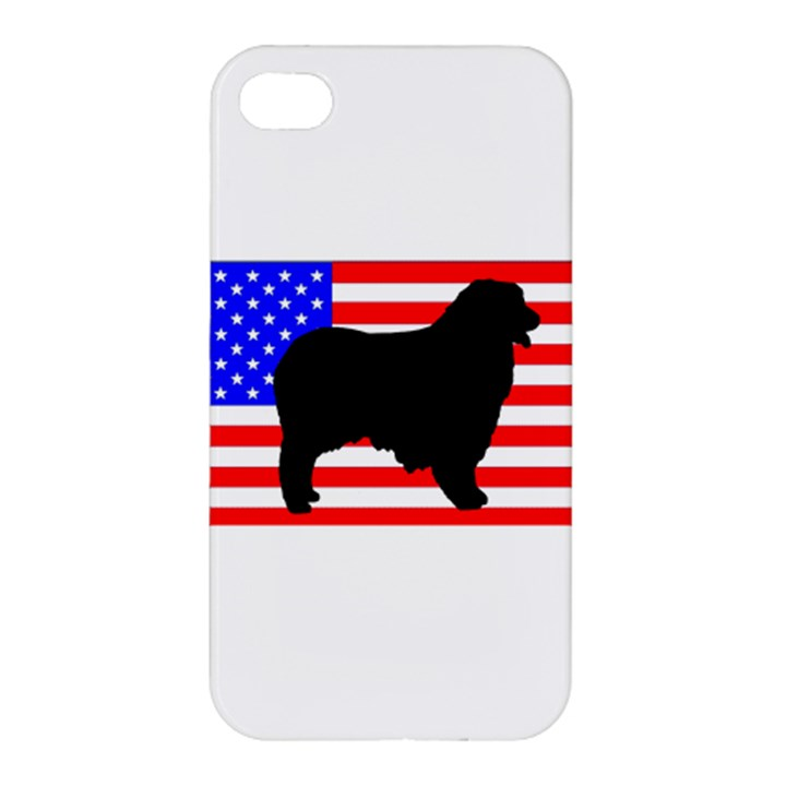Australian Shepherd Silo Usa Flag Apple iPhone 4/4S Hardshell Case