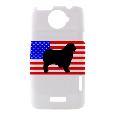 Australian Shepherd Silo Usa Flag HTC One X Hardshell Case