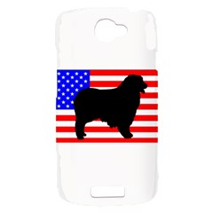 Australian Shepherd Silo Usa Flag HTC One S Hardshell Case