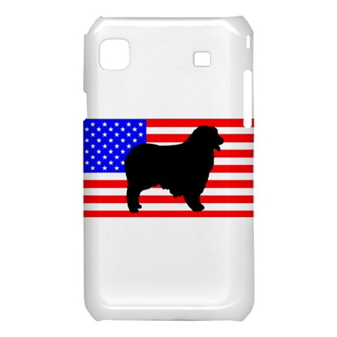 Australian Shepherd Silo Usa Flag Samsung Galaxy S i9008 Hardshell Case