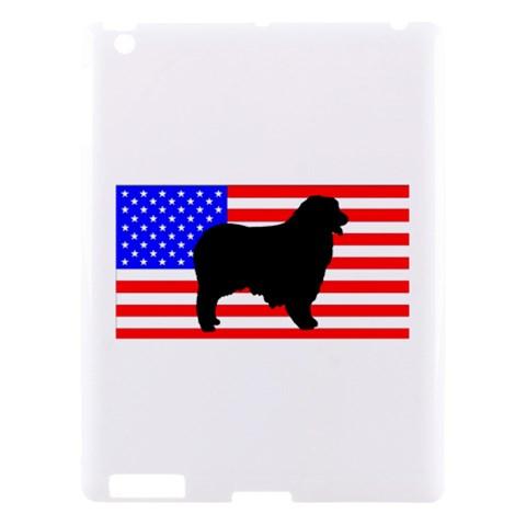 Australian Shepherd Silo Usa Flag Apple iPad 3/4 Hardshell Case